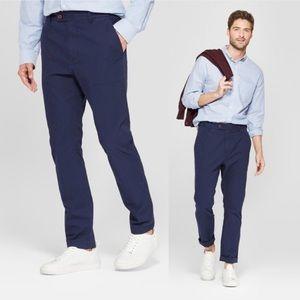 36x30 Goodfellow Taper Utility Pants Navy Blue